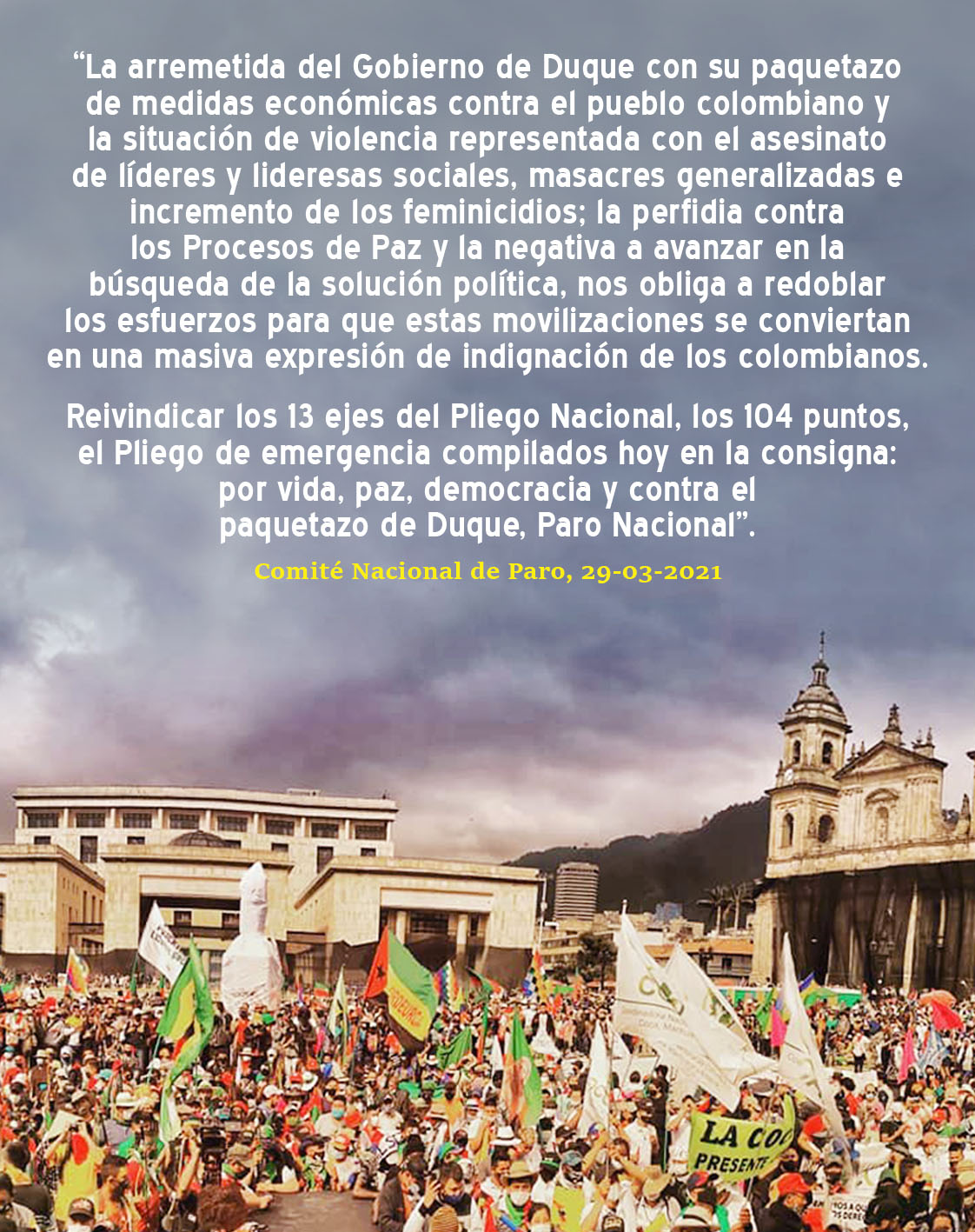 PARO NACIONAL CONTRA EL PAQUETAZO DE DUQUE