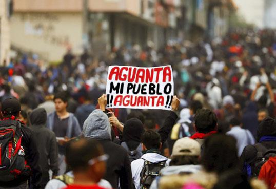 EN ECUADOR LOS DOLORES DE UNAS TORCEDURAS