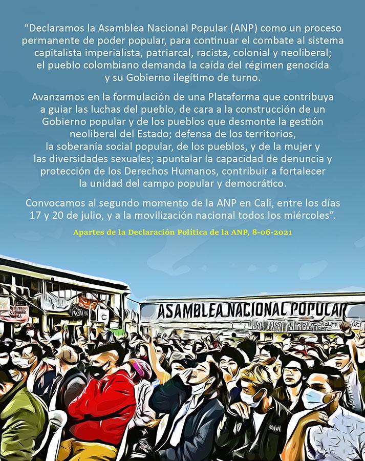 EL PUEBLO COLOMBIANO DEMANDA LA CAÍDA DEL RÉGIMEN GENOCIDA