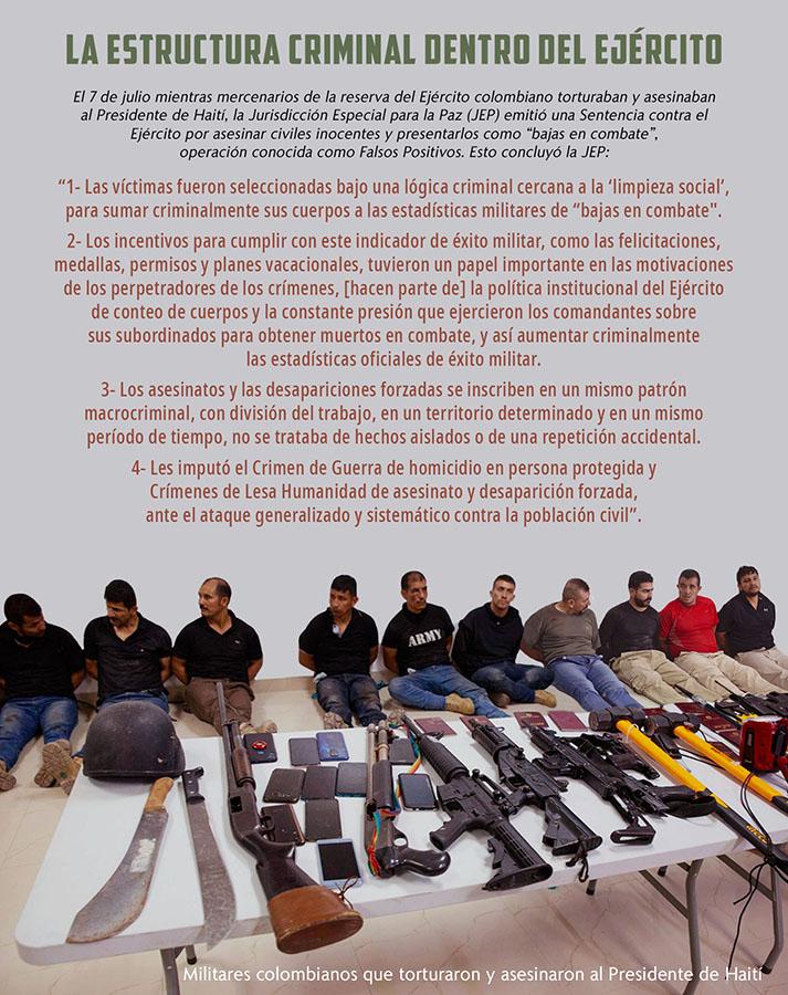 LA ESTRUCTURA CRIMINAL DENTRO DEL EJÉRCITO