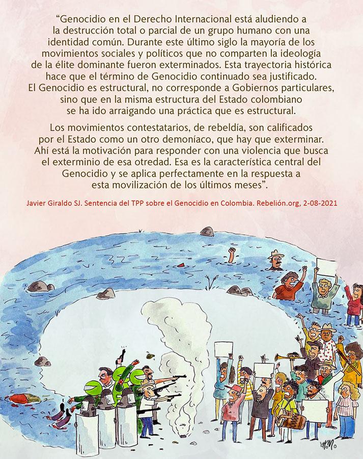EL GENOCIDIO EN COLOMBIA ES CONTINUADO Y ESTRUCTURAL